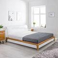 mdf blanco de alto brillo de madera de la cama para adultos