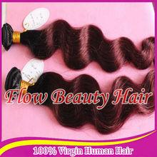 ombre colro 1b#/99jj loog body wave brazilian virgin hair ,two tone virgin hair weaves
