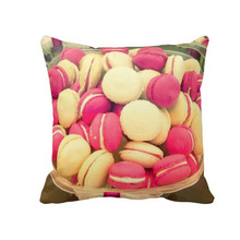 Custom full sublimation fashion macaron design cushion