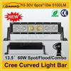"Hotsale cree 13.5"" 5100LM 60W high power auto led light bar"
