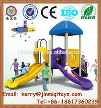 Hot style plastic slide for kids, children combines slide, used commercial playground equipment sale JMQ-P080F
