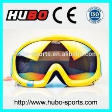 Custom design printed logo strap best design snowboard safety glasses
