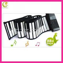 88 keys electronic organ keyboard 2014best-selling electronic Piano Organ with MIDI 49-Key Digital usb Roll-up Soft Silicone
