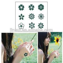 2015 novo produto tatuagens temporárias outono personalidade flores pequeno impermeável tatuagem