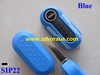Blue Flip Remote Key Case Shell for Fiat 500 PANDA Replacement Folding Combo Shell