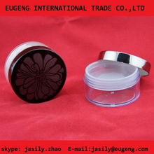 cosmetic powder jar ,cosmetic transparent plastic case face powder container