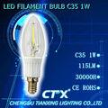 nouvelle conception 2014 360 degree c35 1w e14 led lampe à incandescence