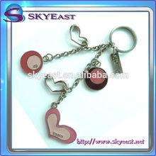 Promotional special shape high shiny enamel epoxy metal key chains