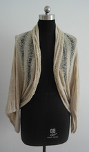 Fashion lady/girl latest loose knitted poncho sexy sweater