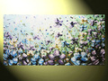 Flor pintura da lona moderna