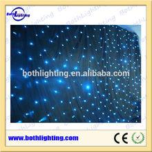 Blue Color 4X6m led star cloth curtain