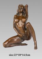 home indoor decoration naked women erotic bronze sculpture erotic figures TPY-617