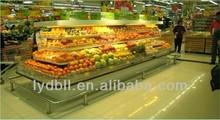 supermarket fruit display refrigerator