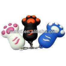 Cute Cartoon Paw usb flash drive, mini novelty gift for kids rubber usb drive 8GB,16GB,32GB