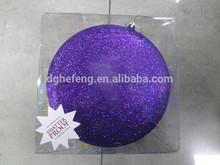Christmas plastic hanging glitter flat drum