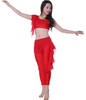Red Comfortable Belly Dance Practice Wear / Modern dance wear