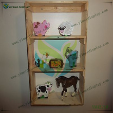 3 TIER WALL MOUNTED KNICK KNACK DISPLAY SOLID WOODEN SHELF HOME DECOR YM4221W