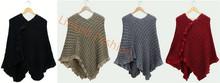 Estilos más populares para mujer de lana ponchos capes
