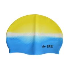 sun protection silicone ear swim cap,customized logo printed waterproof swim cap UN-0603B