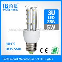 Most power 5W 450lm led candle e14 led bulb,B22 bulb