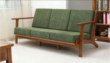 nórdicos minimalista branco madeira maciça de carvalho sala sofa conjunto único de dois três assento moldura de madeira de móveis bo019