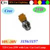 High power T25 7440 1156 3156 5W White Car Led Brake Light 12V T20 S25