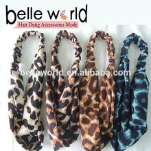 Fashion Leopard Print Design Soft Fabric Head wraps