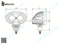 Automotive off road use 10w led working light,portable led work light