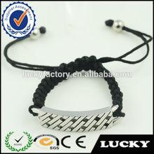 Fashion jewellery jewel cheap rope steel charm bracelet for man