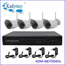 Popular Excellent 2.0Megapixels 1080P Outdoor WIFI IP Camera 4chs Economic wireless camera surveillance system