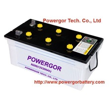 16 Months warranty life 12V200AH Dry car battery PowerGor Brand Popular in Sudan / UK