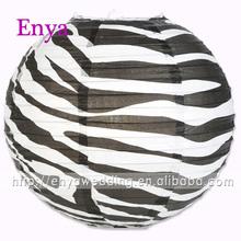 EYPL05 Fashion Black and White Zebra Chinese Paper Lantern