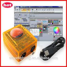 Hot Siud WLK-2008 sunlite 1 and sunlite 2 USB dmx 512 console sunlite dmx 512 controller software