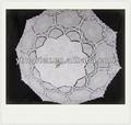 2014 neues design 100% baumwolle hochzeit dekor spitze regenschirm