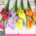 De China de la flor artificial calla lily barato con 3 flores para ocasiones especiales de la decoración
