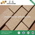 split brick tile 60*240*11mm terracotta panel ceramic various black color exterior wall ventilated china great factory