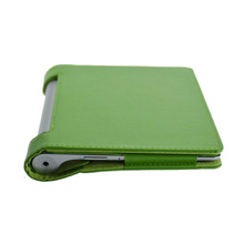 2014 Arrival New Fashion Brand Flip Stand Litchi Pattern Style Pu Leather Case For Tablet PC Lenovo YOGA B6000