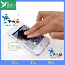 Promotional adhesive microfiber mobile phone screen cleaner