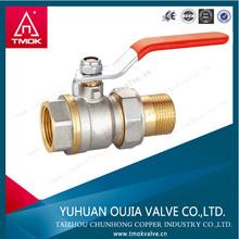 2-PC Brass Full Borepvc true union brass ball valve for water meter