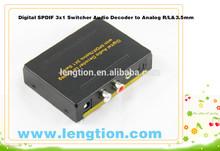 HDMI to HDMI + RCA L / R Audio Extractor Converter SPDIF for TV