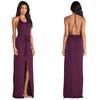 cheap high vent sexy backless jersey maxi dress purple wedding dress