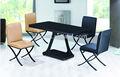 c195 mobiliário moderno preto quadrado de revestimento de vidro ferro forjado vidro mesa de jantar