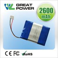 high power 4606166 2.5ah 3.7v electric tool lithium polymer battery