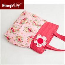wholesale linen sweety designer floral handbag women