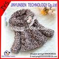 Léopard enfants vestes / manteaux bébé manteaux de fourrure de 3 - 6 anos vieux
