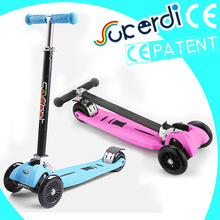 2014 new model patent 4 wheel kids double front wheel scooter