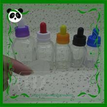 HD-GCT20 cosmetic glass bottle 20ml empty glass square bottle mass stock