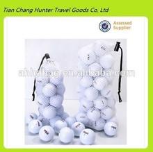 wholesale durable golf ball mesh bag,golf ball drawstring bag