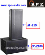 Dual 18-inch subwoofer + dual 15-inch speaker/ 2*18inch bass audio speaker subwoofer system