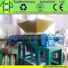 new designed high capacity Agriculture foil double shaft shredder shredding machine recycling plastic film farm sheet PE PP film